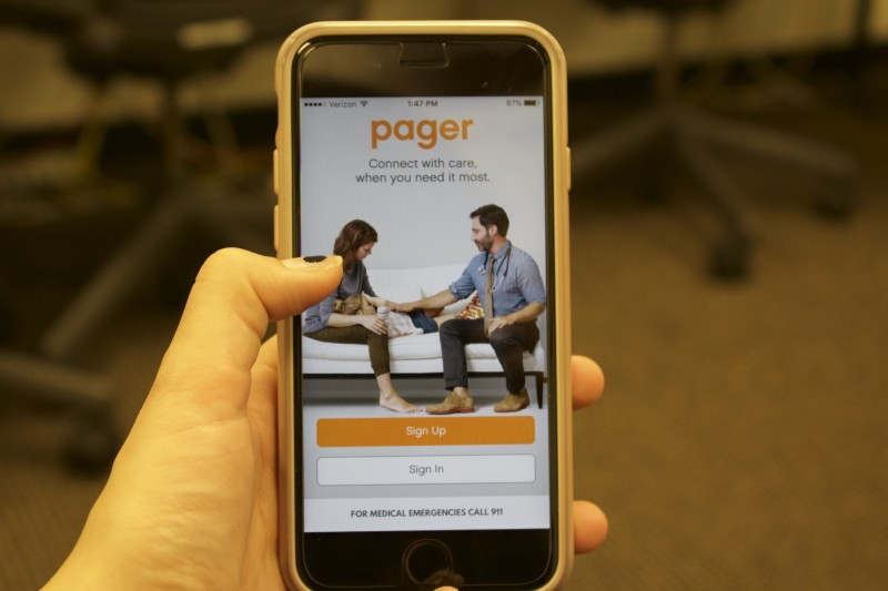 The Pager App is attempting to change the way college students reach out to local physicians. (JESSICA HANLEY/THE OBSERVER)