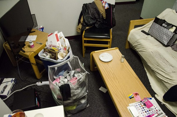 Messy dorm room? Get to work in order to start fresh this Spring! (PHOTO BY JESSE CARLUCCI/ THE OBSERVER)