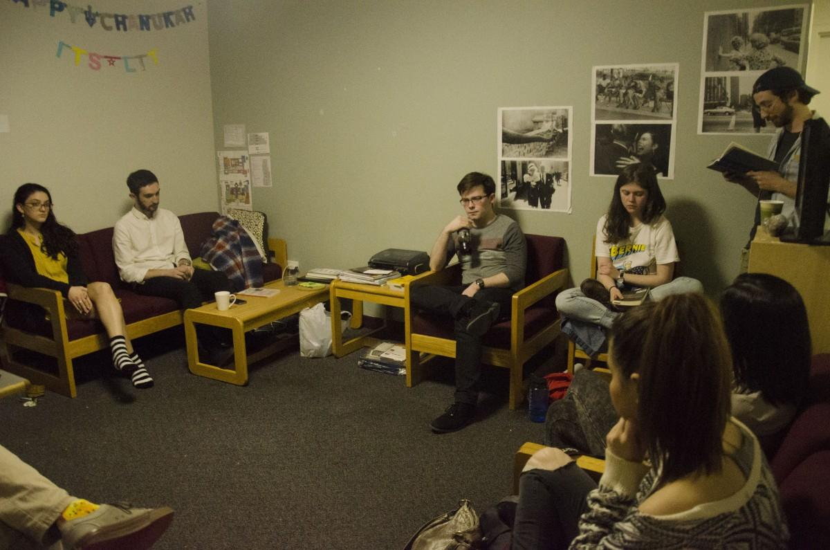 Fordham's underground poetry club, The Poetry Club, meets every Thursday night. (PHOTO BY ANDRONIKA ZIMMERMAN/THE OBSERVER)