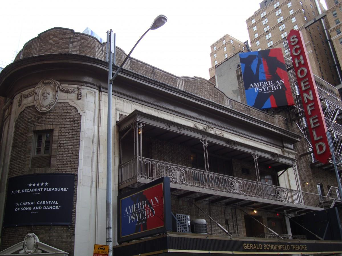 The Gerald Schoenfeld Theatre will become the scene of Patrick Bateman's latest crimes on April 21. (PHOTO BY RACHEL JARVIS/THE OBSERVER)