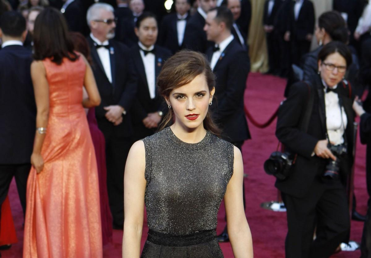 Emma Watson arrives at the 86th annual Academy Awards on Sunday, March 2, 2014, at the Dolby Theatre at Hollywood & Highland Center in Los Angeles. (PHOTO COURTESY OF WALLY SKALIJ/ LOS ANGELES TIMES VIA TNS)