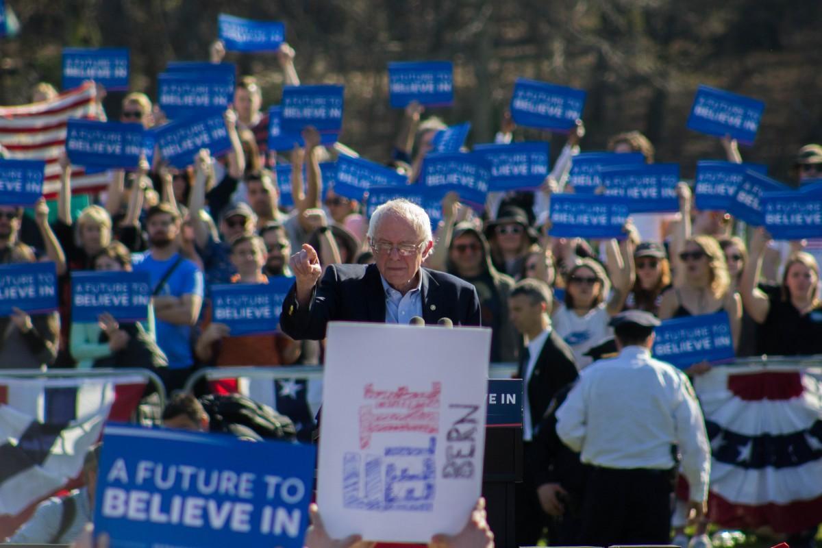 Bernie Rally at Prospect Park