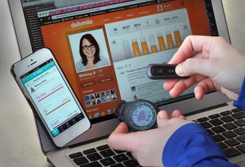 Fitbit's wireless syncing feature enables users to access their activity data across all online devices. (Photo Courtesy of Tom Wallace/ Minneapolis Star Tribune via TNS)