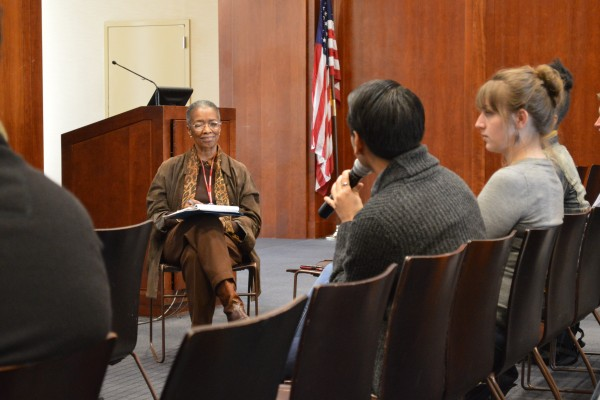 Fordham students met with members of the Middle States commission to talk about their experiences as students at Fordham. (ELIZABETH LANDRY/THE OBSERVER)