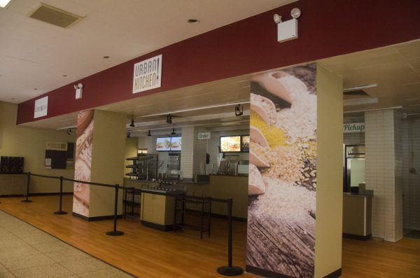 The Ram Cafe underwent renovations this summer after Aramark took over as Fordham University's dining service provider on July 1. (PHOTO BY ANDRONIKA ZIMMERMAN/THE OBSERVER)