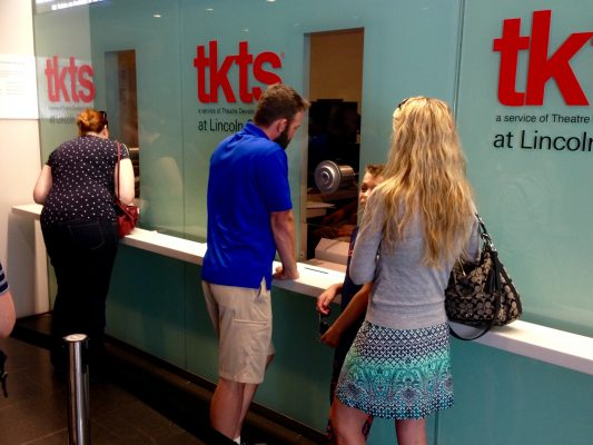 The new TKTS booth at the David Rubenstein Atrium is a great place to get discount tickets to Broadway and Off-Broadway shows. (COURTESY OF THE THEATRE DEVELOPMENT FUND)