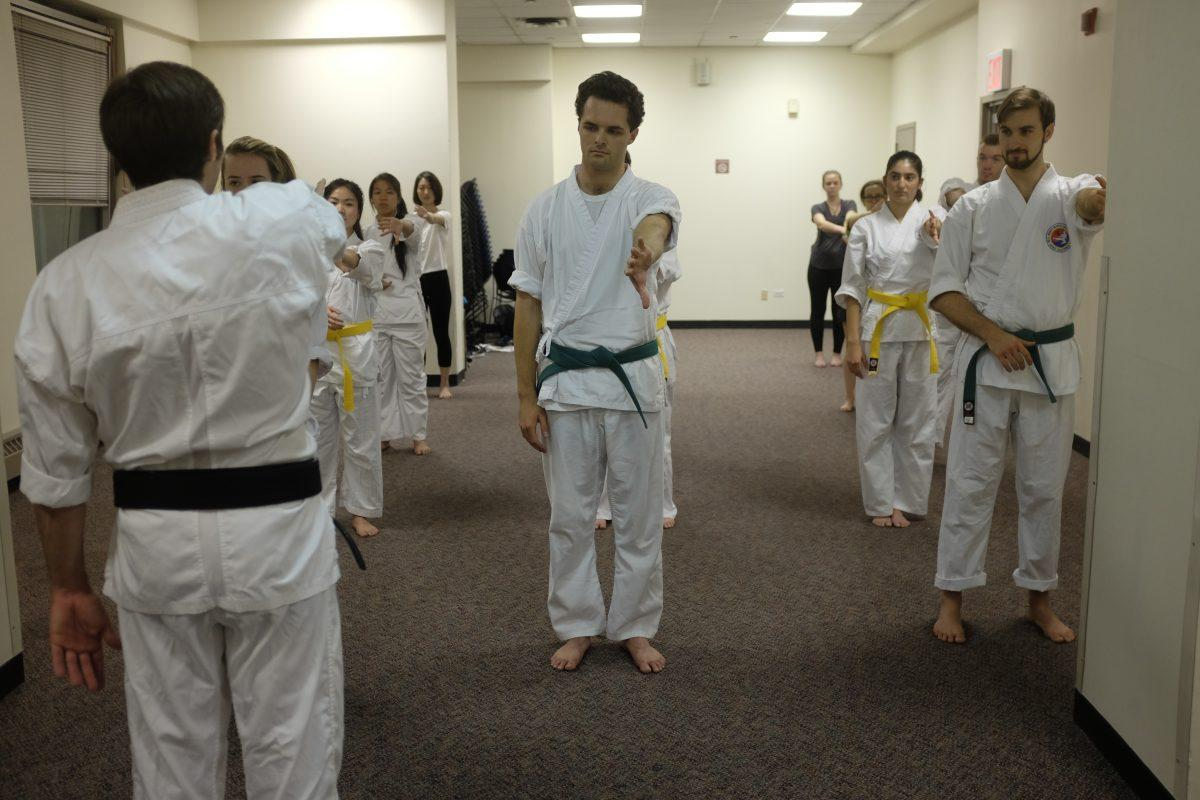The Taekwondo Club helps students stay physically active, while learning martial arts. (SOPHIE DAWSON/THE OBSERVER)