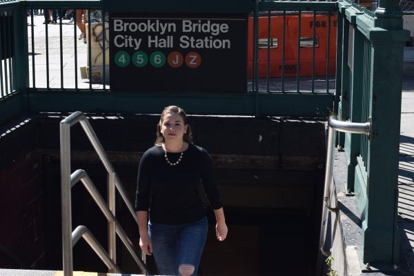 Michaela Finneran, FCLC '18, recently landed an internship at the New York City mayor's office (SAM MCHALE/THE OBSERVER)