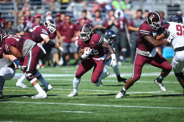 Fordham Rams defeated the University of Pennsylvania Quakers in front of a packed crowd at the Homecoming game on Sept. 24. (PHOTO COURTESY OF FORDHAM SPORTS)