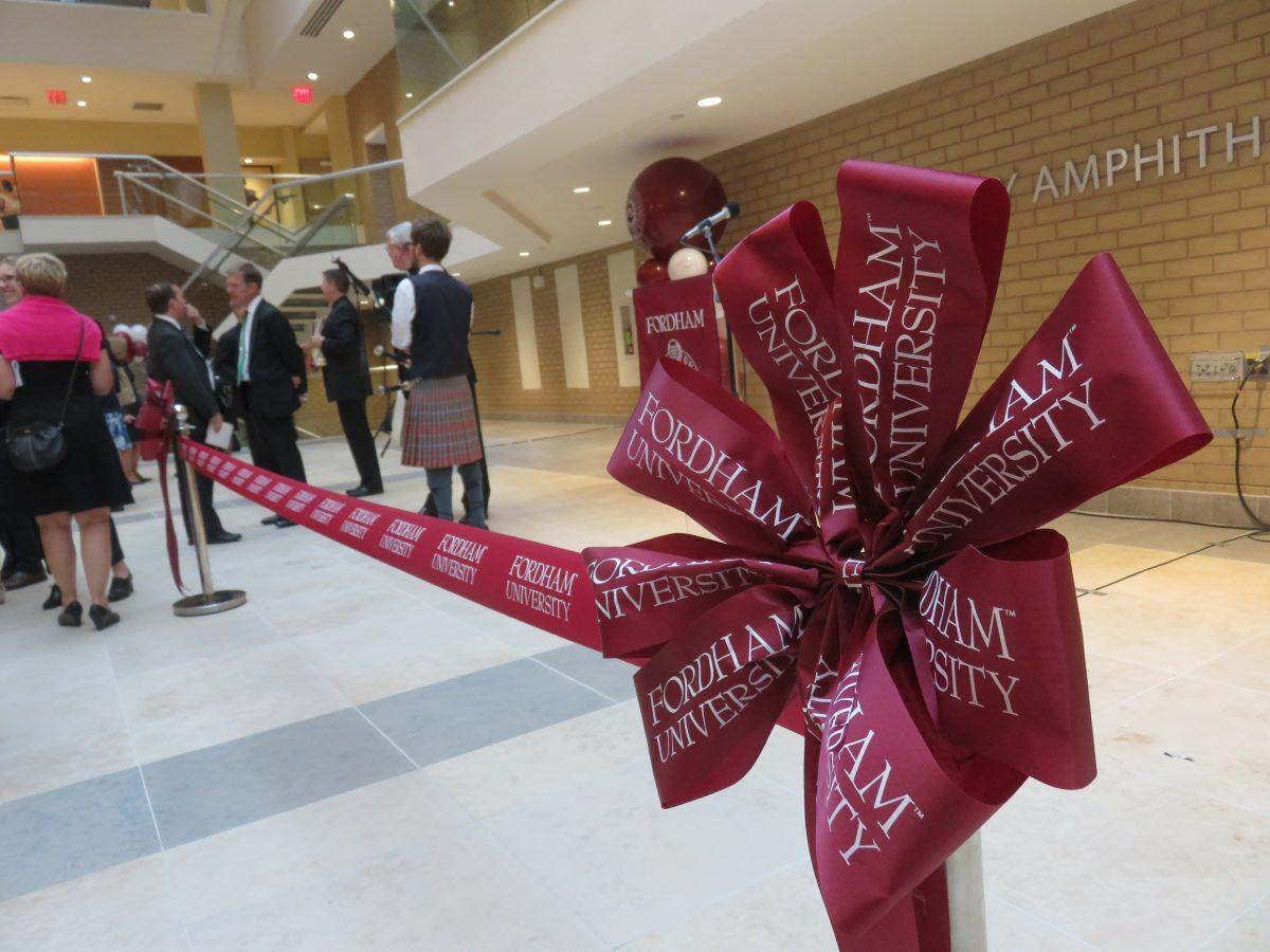 Fordham Rededicates Renovated 140 Building