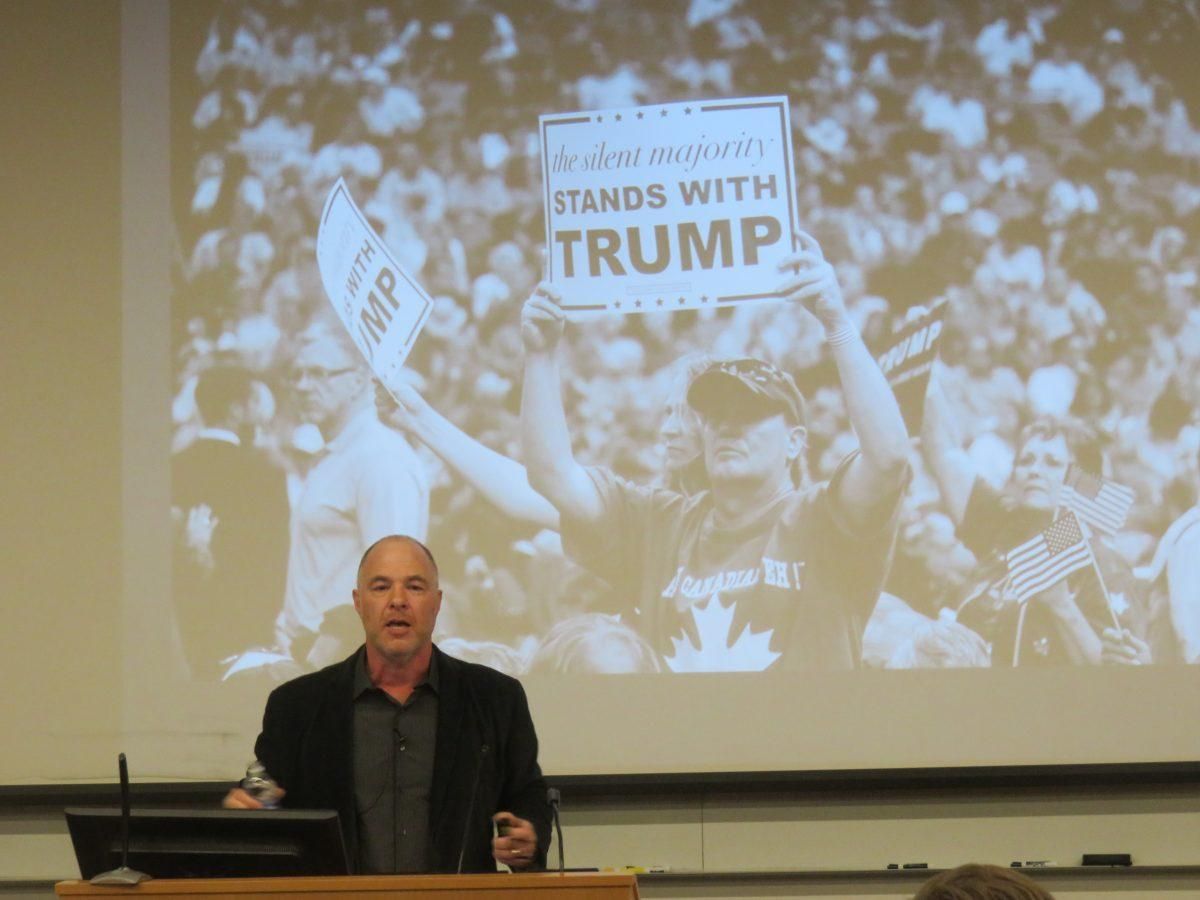 Katz gave a talk on masculinity in politics at Fordham Lincoln Center.  (STEPHAN KOZUB/THE OBSERVER)
