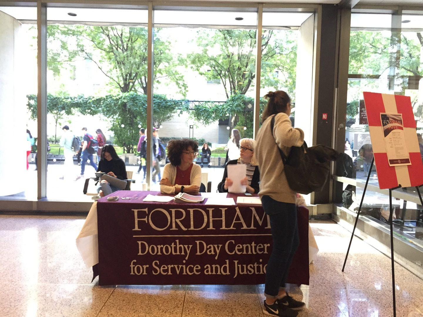 Fordham Promotes Voter Registration