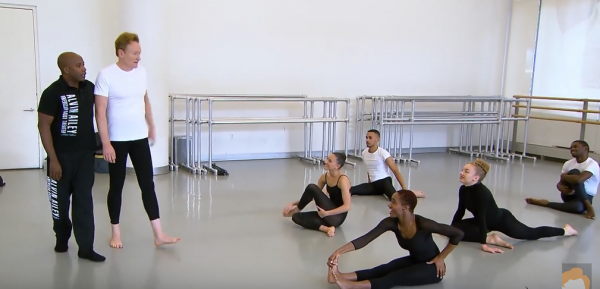 Conan's excursion to Ailey, which was taped on Oct 12, aired on TBS on Oct. 30. (COURTESY TEAMCOCO VIA YOUTUBE)
