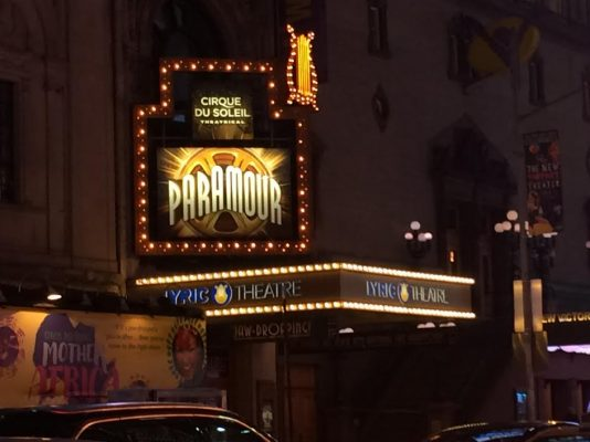 Paramour on Broadway combines circus acts with musical theatre. (MORGAN STEWARD/THE OBSERVER)