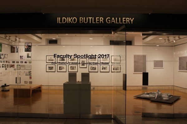 Before the opening night of the faculty show at the Ildiko Butler Gallery on January 25, 2017.  (ASEAH KHAN/THE OBSERVER)