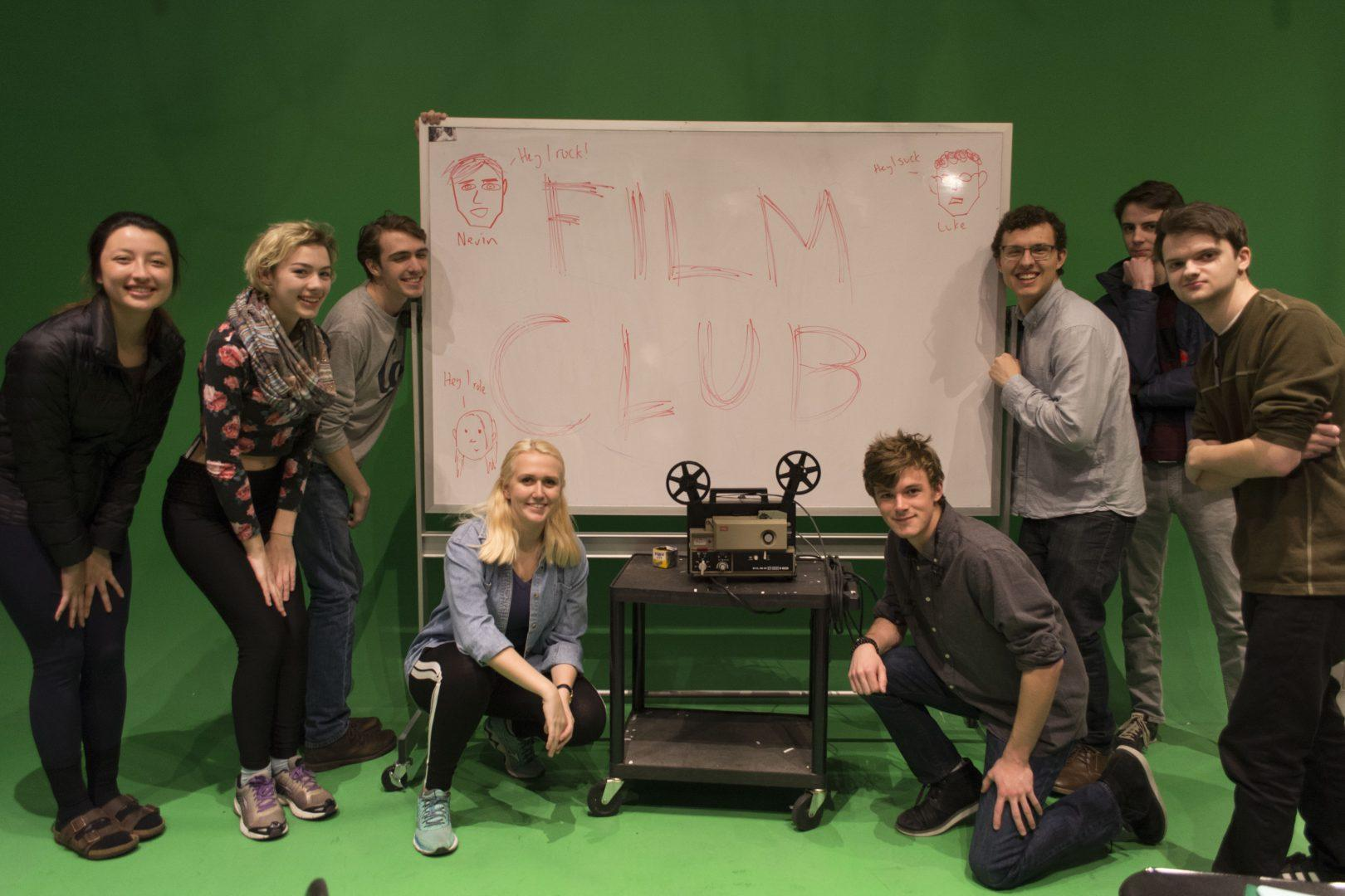 The new Filmmaking club posing together in SL24L, where they hold  weekly club meetings. (KATARINA MARSCHHAUSEN/THE OBSERVER)