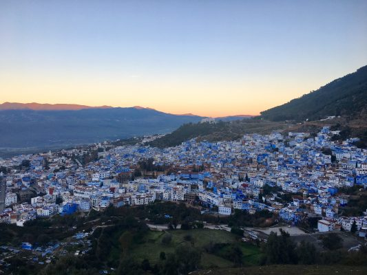 Reese Ravner visited Chefchaouen while in Morocco. (REESE RAVNER/THE OBSERVER)
