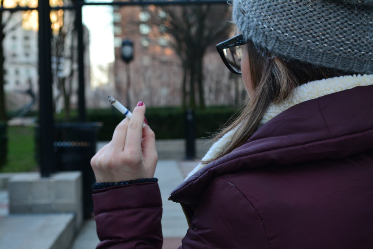 While smoking is down for young adults, many college students still struggle with this harmful addiction. (ADRIANA BALSAMO-GALLINA/THE OBSERVER)