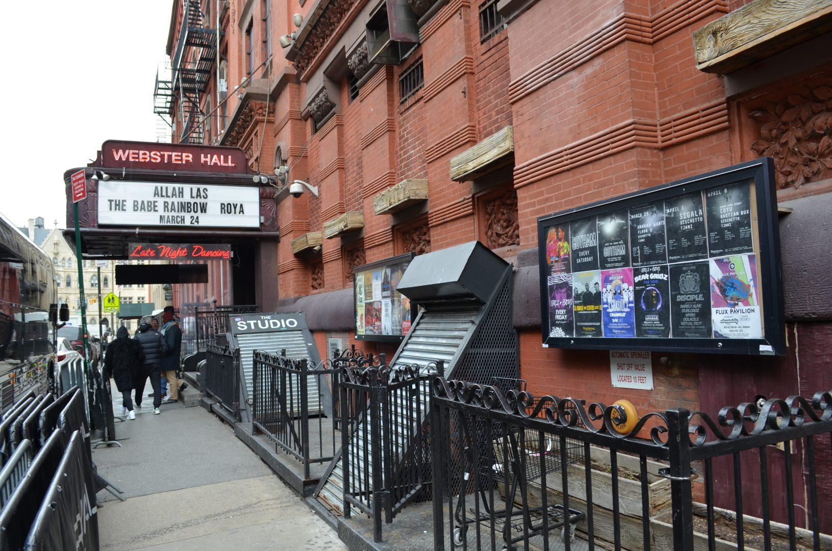Some venues include Webster Hall, the Highline Ballroom and the Knitting Factory. (JILLIAN JAYMES/THE OBSERVER)