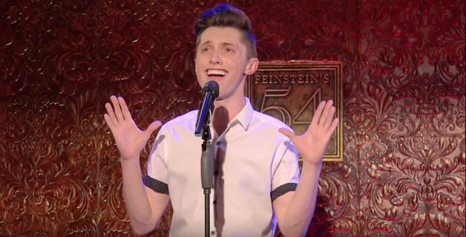 Sophomore Roger Dawley has had the honor of performing in shows at Broadway's legendary 54 Below, the same venue that has held concerts by Orfeh, Telly Leung and Lesli Margherita. (PHOTO COURTESY OF ROGER DAWLEY)
