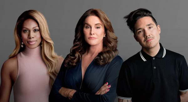 """Laverne Cox, Caitlin Jenner and Amos Mac share their stories in the HBO documentary """"The Trans List."""" (Timothy Greenfield-Sanders/Courtesy HBO)"""