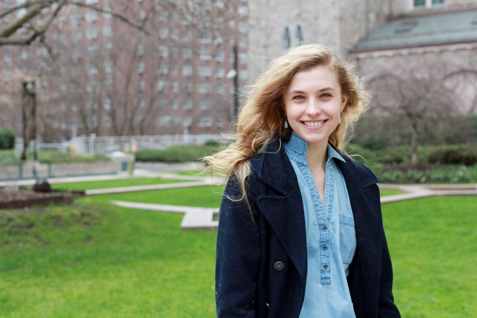 Miriam Miller, in addition to dancing professionally, is a student at Fordham College at Lincoln Center.  (EMMA DIMARCO/THE OBSERVER)