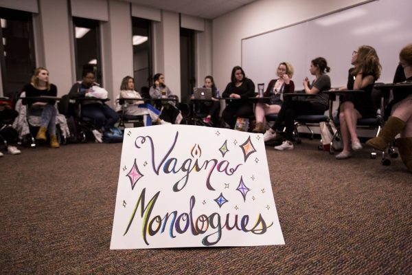 The Vagina Monologues cast going through a full rehearsal on Wednesday April 5th, 2017. (JESSE CARLUCCI/THE OBSERVER).