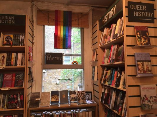 The interior of Gay's the Word bookstore,  London's only gay bookstore. (CALLAN MCCARTHY/ THE OBSERVER)