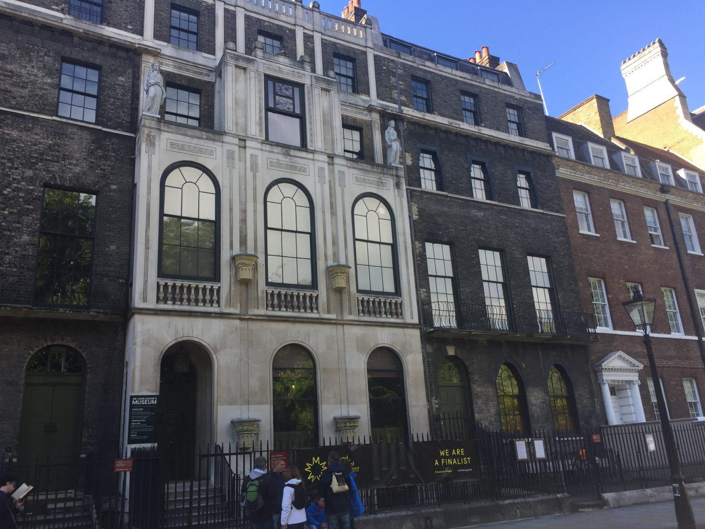 The simple exterior of the Sir John Soane Museum is a stark contrast to the artifact-cluttered rooms inside. (IZZI DUPREY/THE OBSERVER)