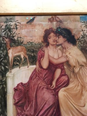 Simeon Solomon's Sappho and Erinna in a Garden at Mytilene (1864) While male homosexuality was criminalized in the U.K. until 1967, female homosexuality was never criminalized because female sexuality was completely erased. (NADINE SANTORO/THE OBSERVER)