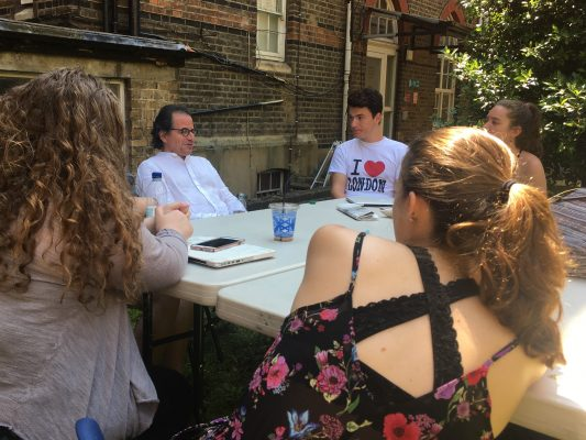 On a sunny June day, critic Matt Wolf stopped by Heythrop College to speak to our class bout all things theatre, both on Broadway and the West End. (ELIZABETH STONE/ THE OBSERVER)