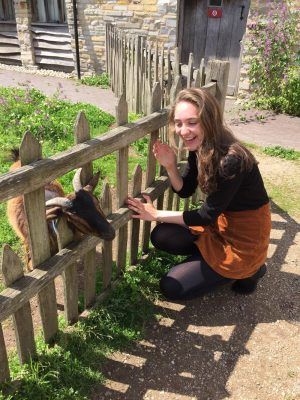 Along with beautiful  gardens, Mary Arden's farm is home to many animals including goats. (NADINE SANTORO/ THE OBSERVER)