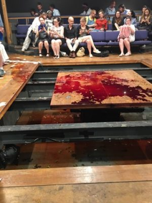 Branden Jacobs-Jenkins is all about the shock value, as evident by the remnants of the stage from