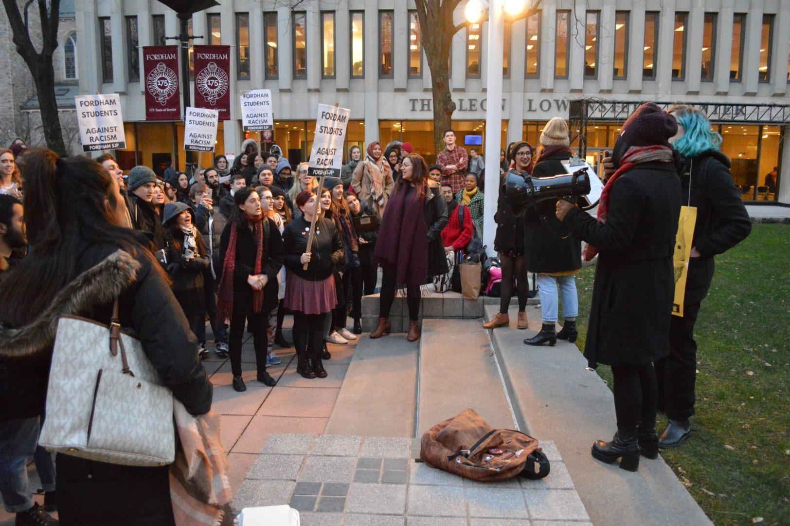 The last semester saw numerous protests on campus at Lincoln Center.