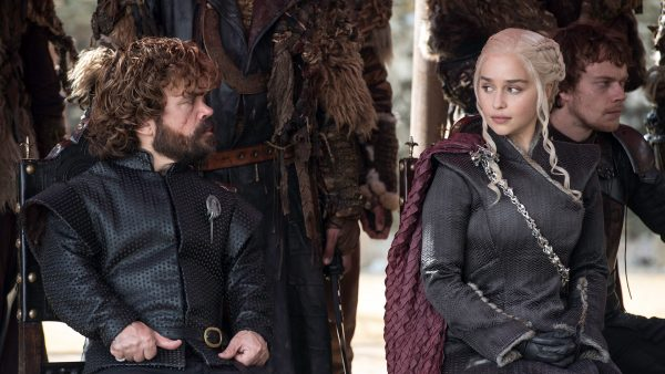 Daenerys Targaryen exchanges a glance with her trusted advisor, Tyrion Lannister. (PHOTO COURTESY OF HBO)