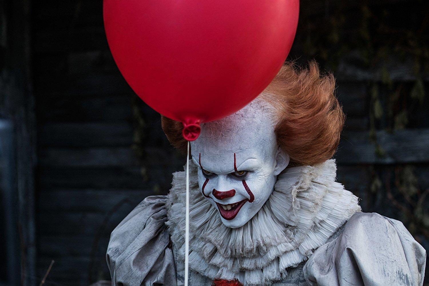 In this adaptation of the 1986 horror classic, Bill Skarsgård plays Pennywise the clown. (IMAGE COURTESY OF IMDB)