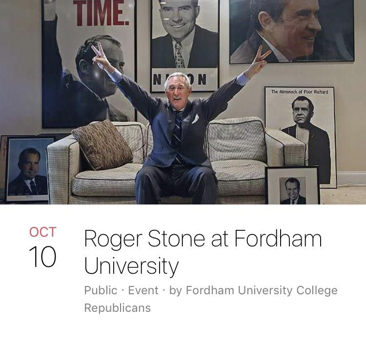 (Photo Courtesy of Fordham University College Republicans' Facebook page)