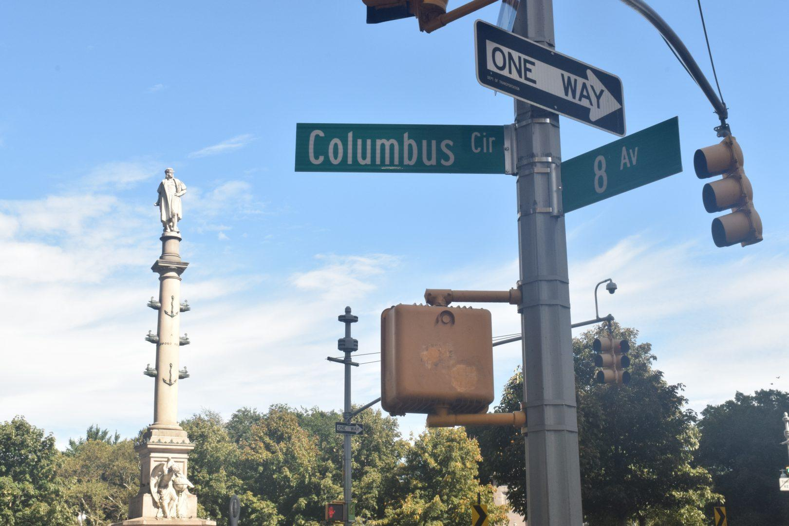 Columbus Circle sits at the center of New York City's most recent debate about the controversial figure.