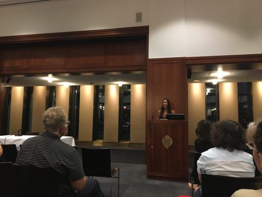 Poets Out Loud held its first reading of the semester at Fordham Lincoln Center on Sept. 25. (COURTESY OF JEFFREY UMBRELL)