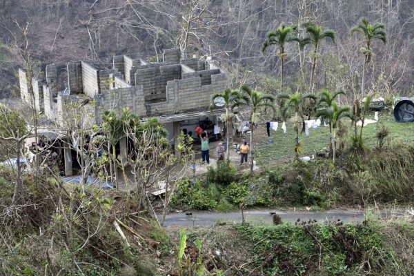 Puerto Rico was devastated by Hurricane Maria, leaving many of the island's residents without power and running water. (U.S. COAST GUARD PHOTO BY PETTY OFFICER 3RD CLASS ERIC D. WOODALL)