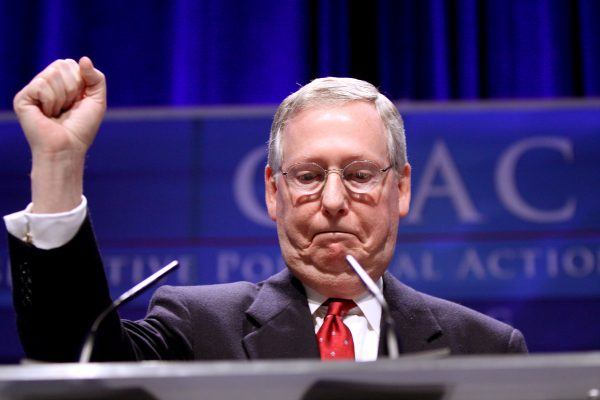 Senate Majority Leader Mitch McConnell has spearheaded the Republican effort to pass a new tax plan. (GAGE SKIDMORE VIA FLICKR)