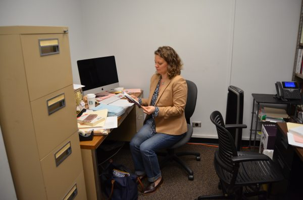 Kari Evanson, French professor and French Language Coordinator at Fordham. (LOÏC KHODARKOVSKY/THE OBSERVER)
