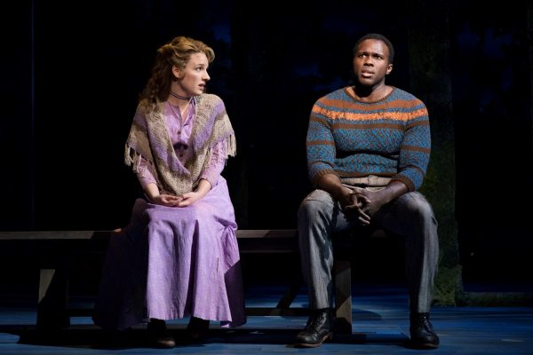 Jessie Mueller and Joshua Henry star as Julie Jordan and Billy Bigelow. (COURTESY OF JULIETA CERVANTES)