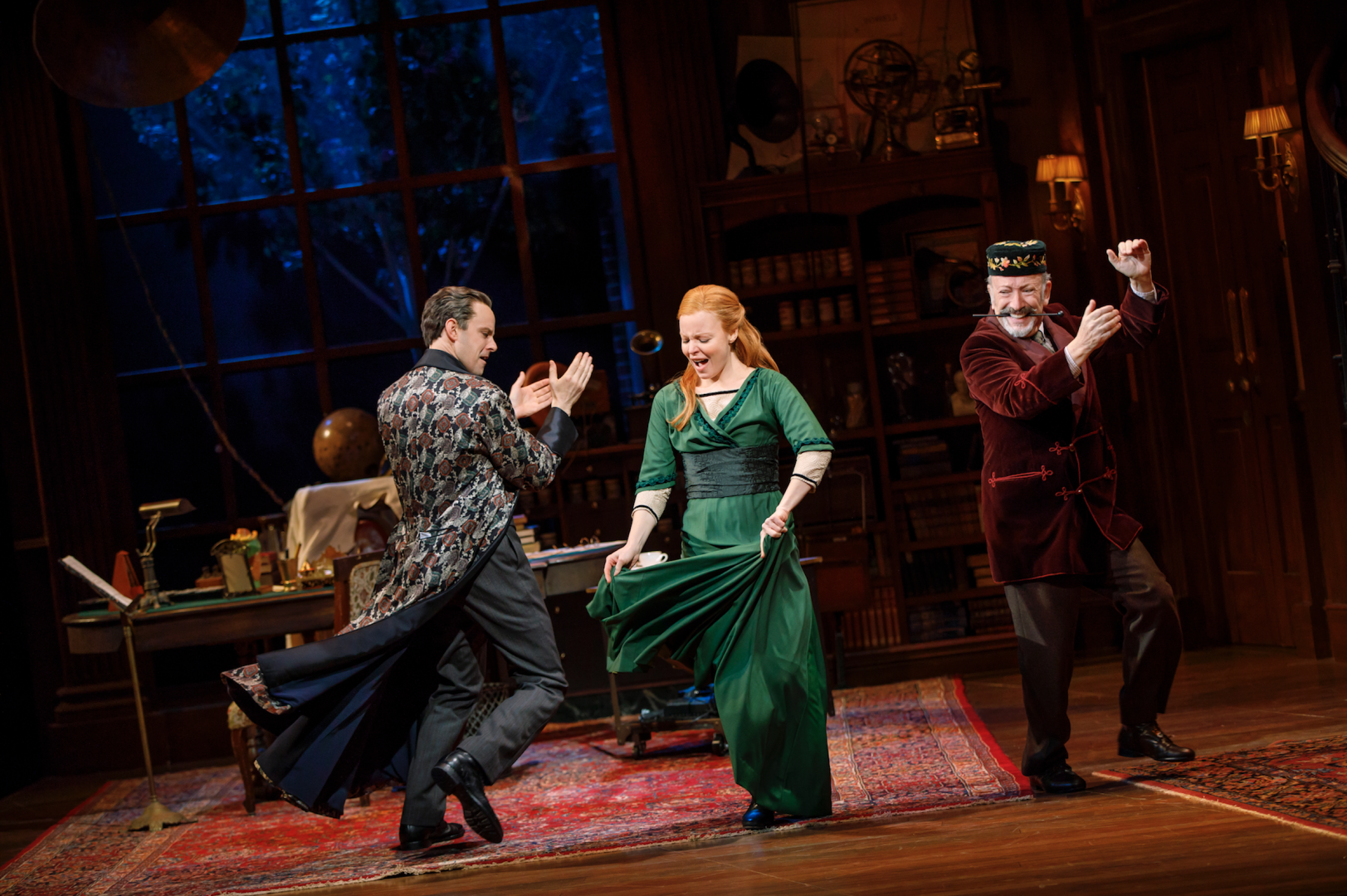 "Harry Hadden-Paton, Lauren Ambrose, and Allan Corduner in the Lincoln Center Theater's Broadway revival of ""My Fair Lady,"" now open at the Vivian Beaumont Theater. (COURTESY OF JOAN MARCUS)."