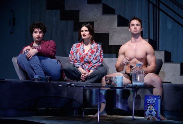 Eli+Gelb%2C+Idina+Menzel+and+Will+Brittain+in+Roundabout+Theatre+Company%E2%80%99s+presentation+of+%E2%80%9CSkintight%2C%E2%80%9D+a+new+play+from+Joshua+Harmon.+%28COURTESY+OF+JOAN+MARCUS%29.