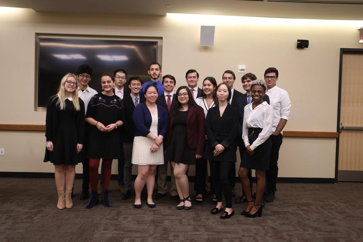 The newly inaugurated members of the 2018-19 United Student Government.(ZOEY LIU/THE OBSERVER)