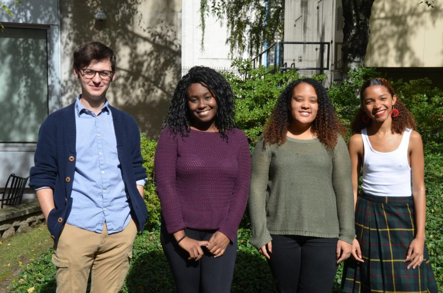 Pictured above are (left to right): Treasurer Ian Sokolowski, Vice President Jemina Molines, Secretary Chelsea Ashley and President Ahmari Alford.