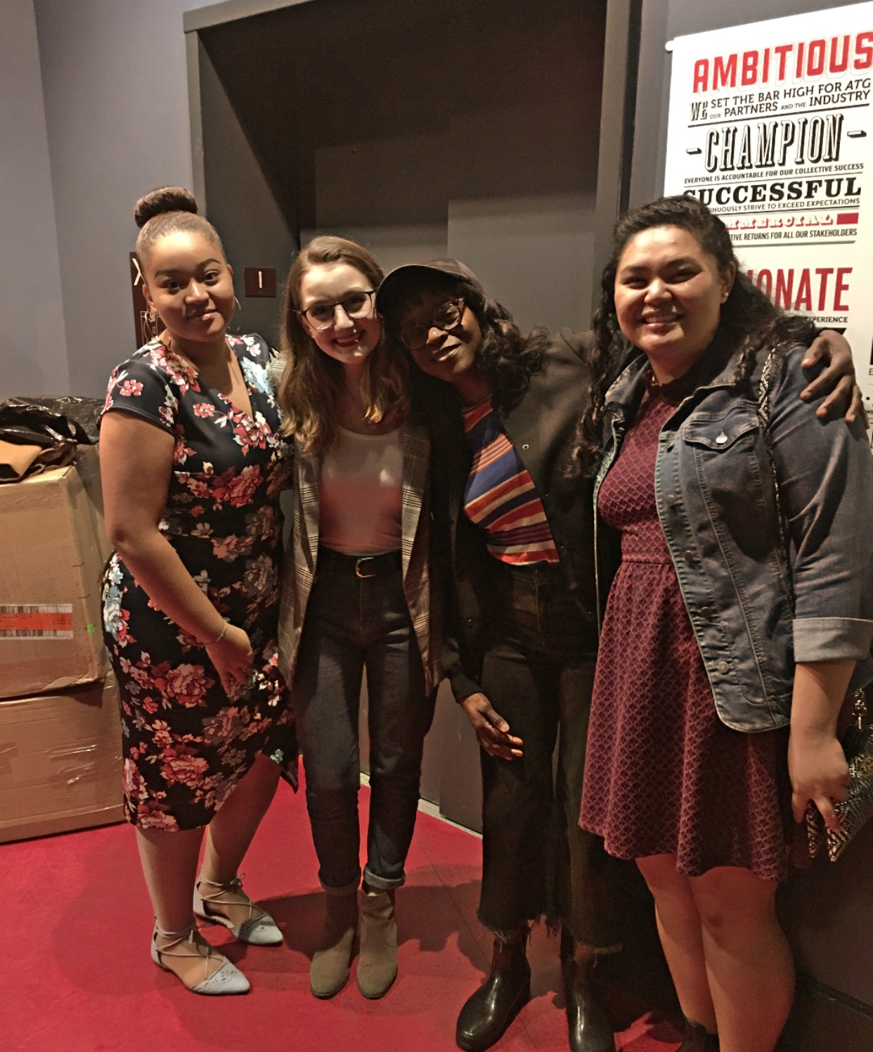 Adeola Role invited the Arts & Culture editors and Kaila Cordova, FCLC '22, behind the scenes at the Lyric Theatre after