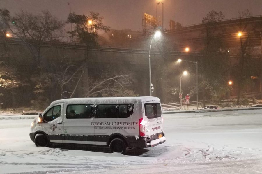 Paul Bury, Fordham College at Lincoln Center 19, was stranded on the Henry Hudson Parkway for around three hours.