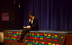 """Drag King """"Just Kyle"""" reads a letter written by the Rainbow Alliance e-board addressing the issues around drag, including transphobia."""